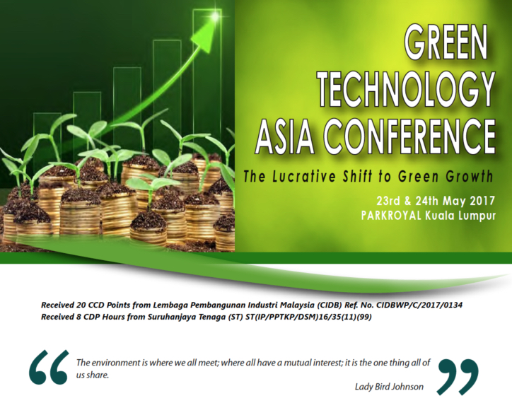 Nic Chin at Green Technology Asia Conference 2017 - Green
